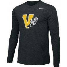 Inglemoor Track 14: Youth-Size - Nike Team Legend Long-Sleeve Crew T-Shirt - Black