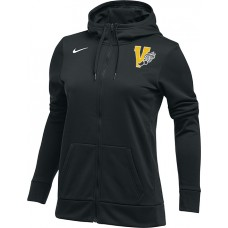 Inglemoor Track 21: Nike Women's Therma All-Time Hoodie Full Zip - Black