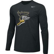 Inglemoor XC 13: Adult-Size - Nike Team Legend Long-Sleeve Crew T-Shirt - Black